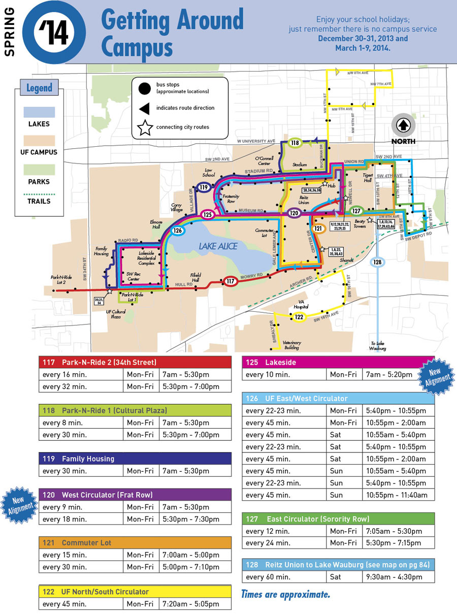 RTS Regional Transit System For The City Of Gainesville FL The - Uf camp us map