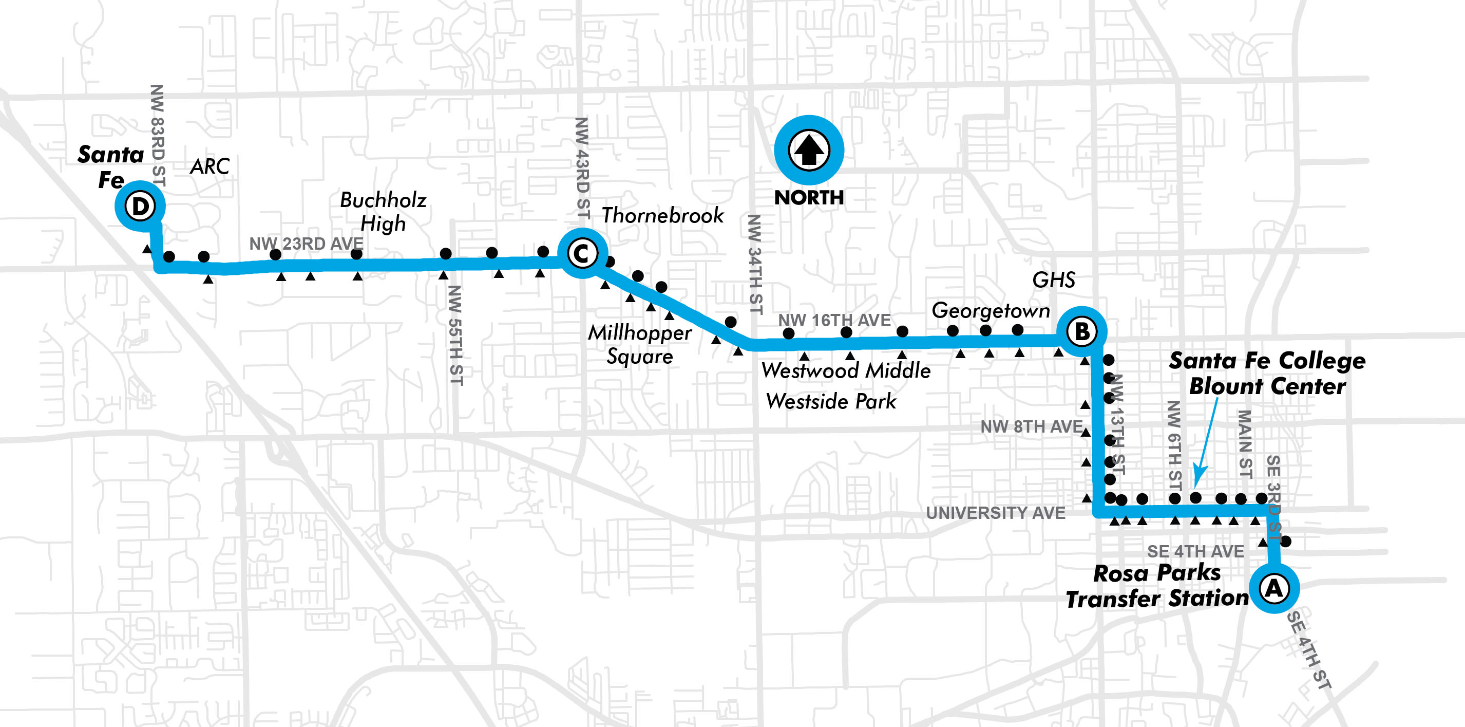 Fall Route10 Rosa Parks RTS Downtown Station To Santa Fe GoRTS