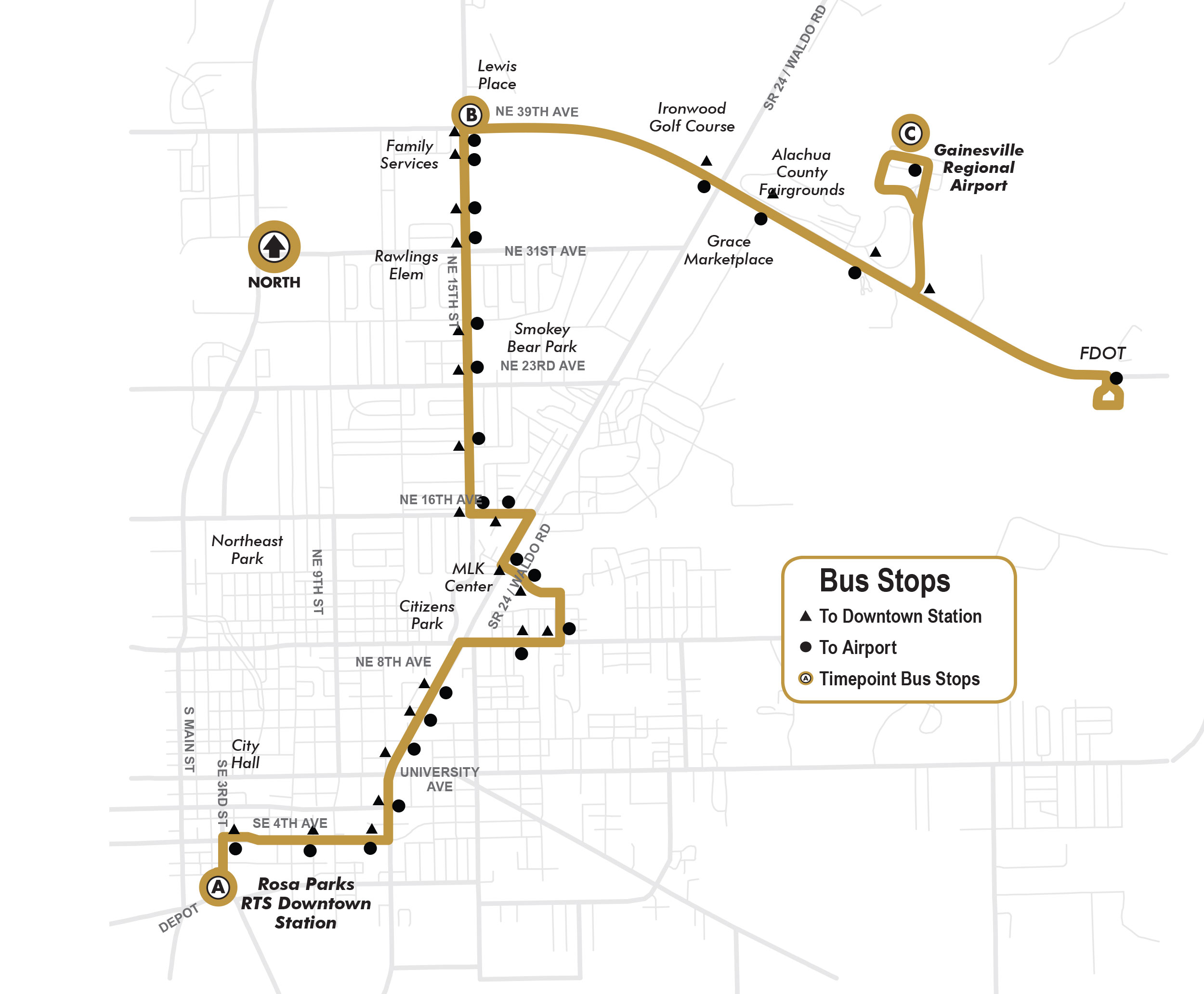 Fall Route26 Rosa Parks Downtown Station To Airport GoRTS