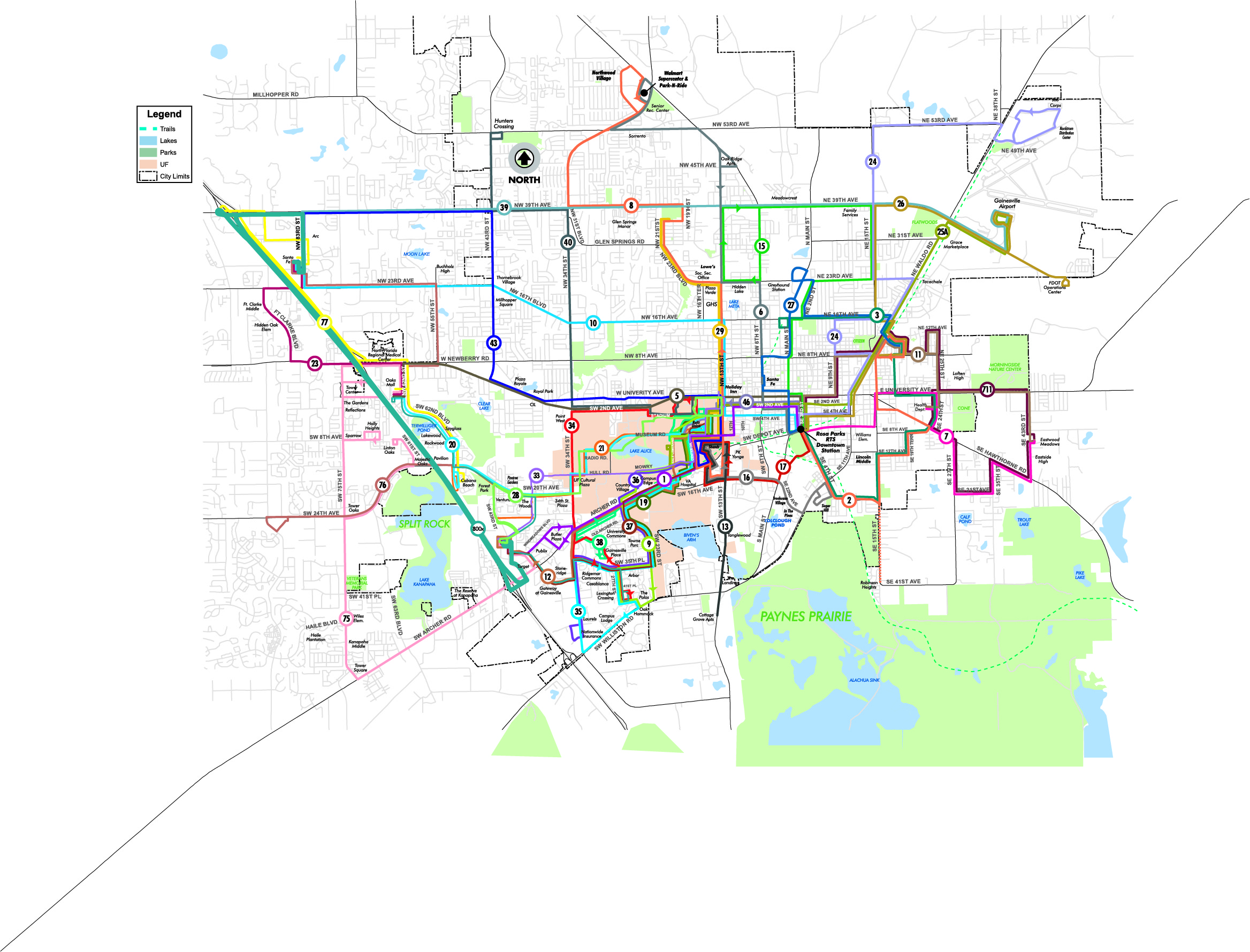 FALL 2017 WEEKDAY ROUTES MAP GoRTS