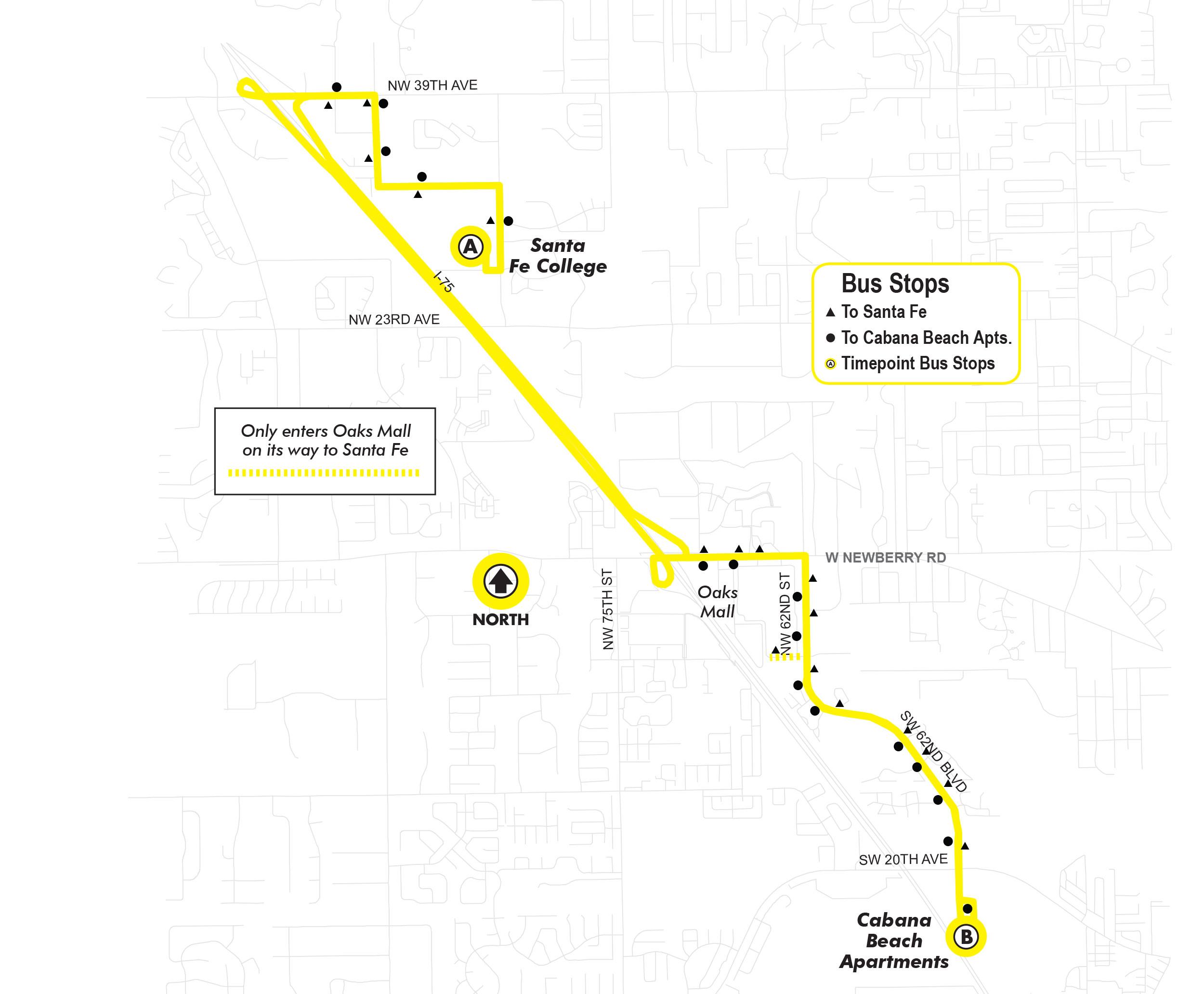 route77 santa fe to cabana beach go rts go rts