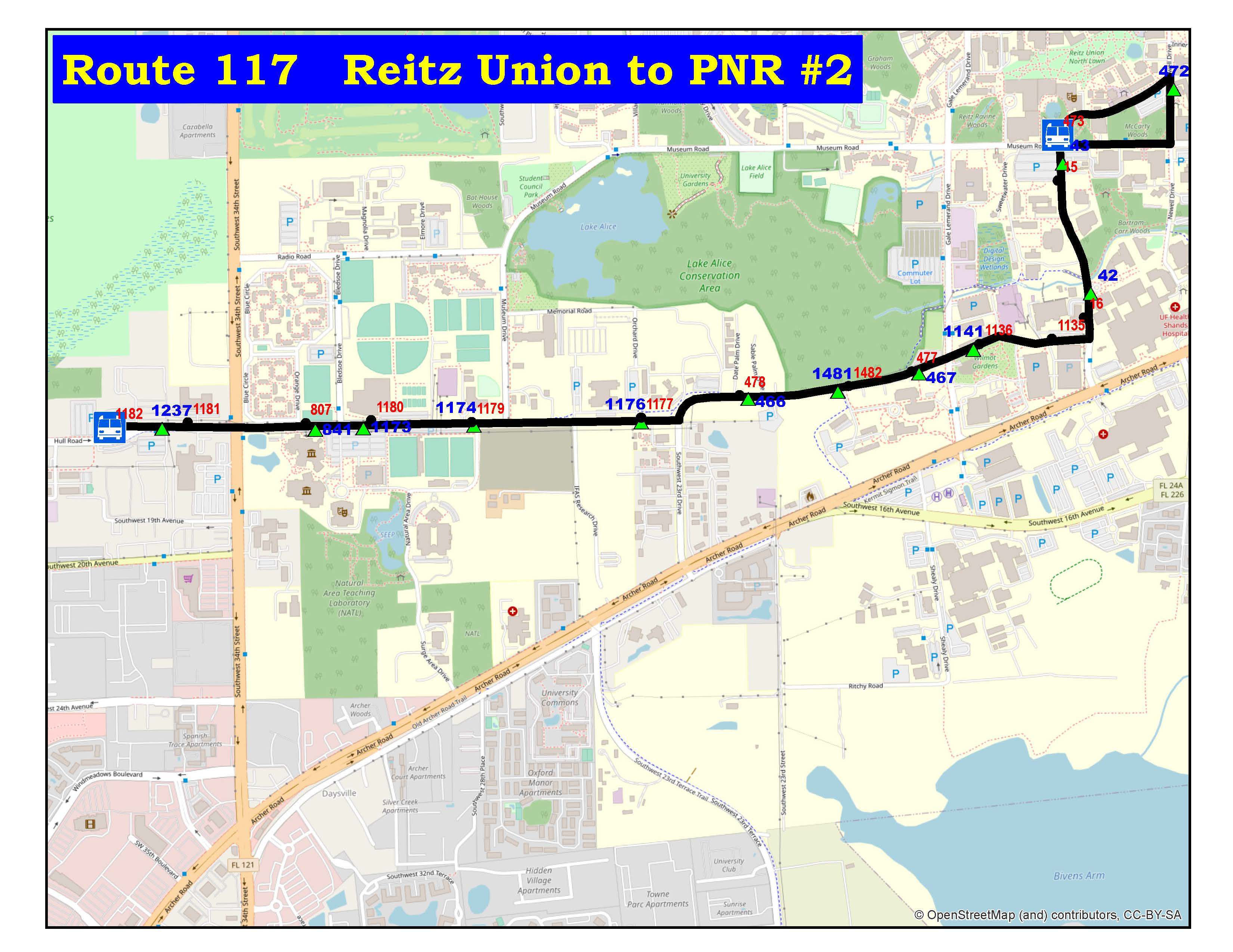 Route 117 Reitz Union To Park And Ride 2 Sw 34 Street Go Rts Student input makes expanded campus union uniquely uf. go rts